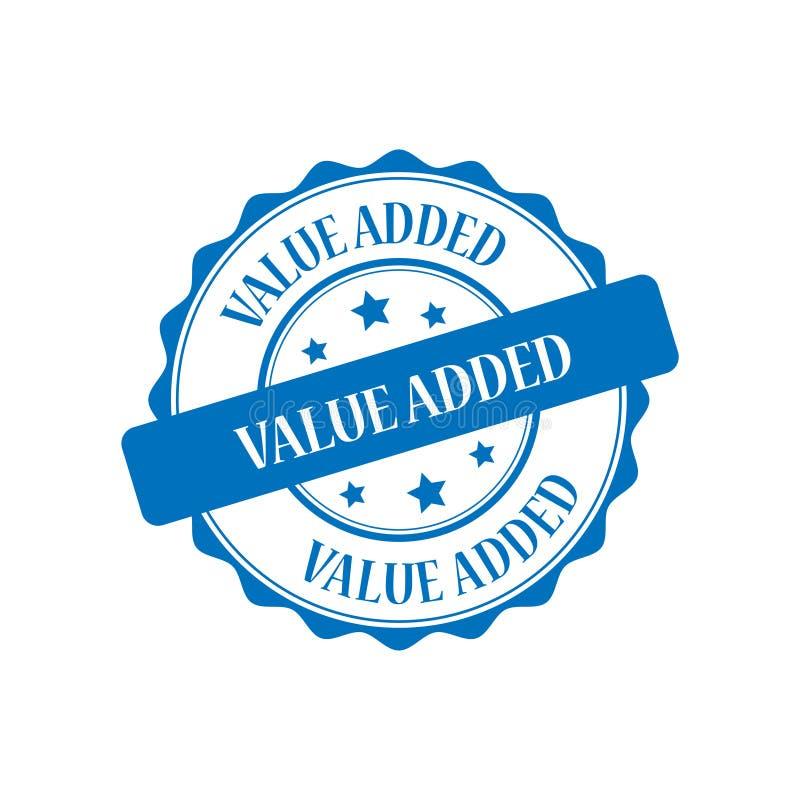 Zegelillustratie op de toegevoegde waarde stock illustratie