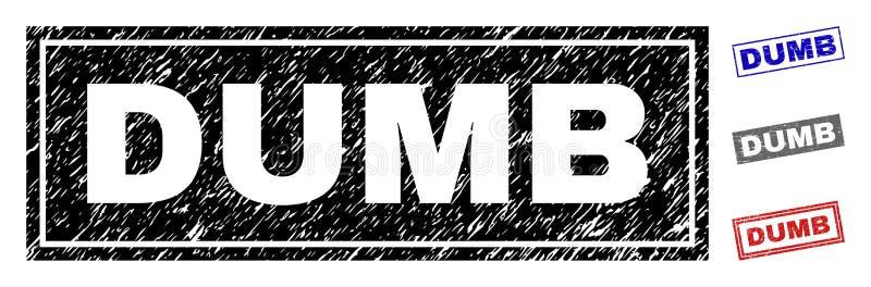 Zegels van de Grunge de STOMME Gekraste Rechthoek royalty-vrije illustratie