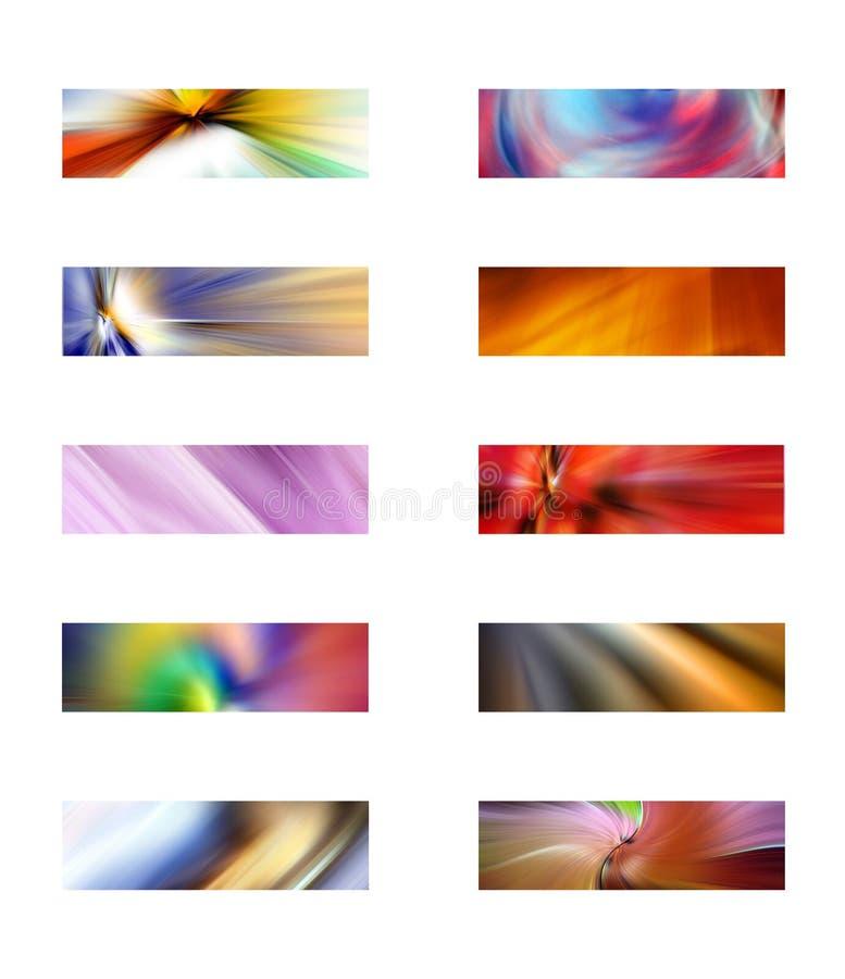 Zehn abstrakte rechteckige Hintergründe vektor abbildung