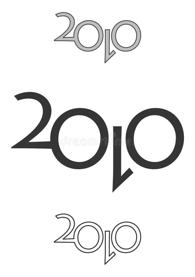 Zeichen 2010 lizenzfreie stockfotos