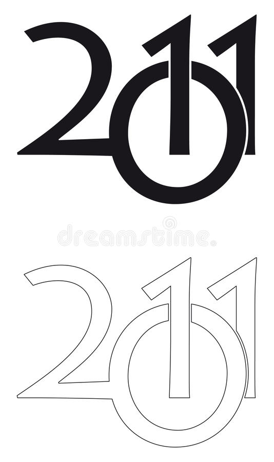 Zeichen 2011 lizenzfreie stockfotografie