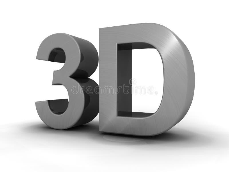 Zeichen 3d getrennt stock abbildung