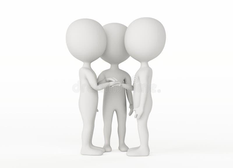 Zeichen 3d - Teilhaberschaft und Freundkonzept stock abbildung