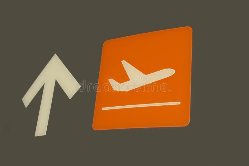 Zeichen-Abflug von Flügen. lizenzfreie stockfotografie