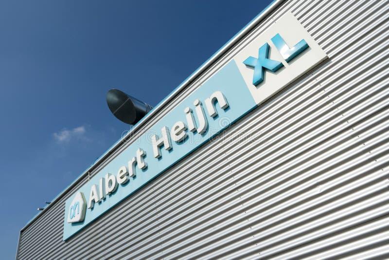 Zeichen Albert Heijns XL an der Niederlassung lizenzfreies stockfoto