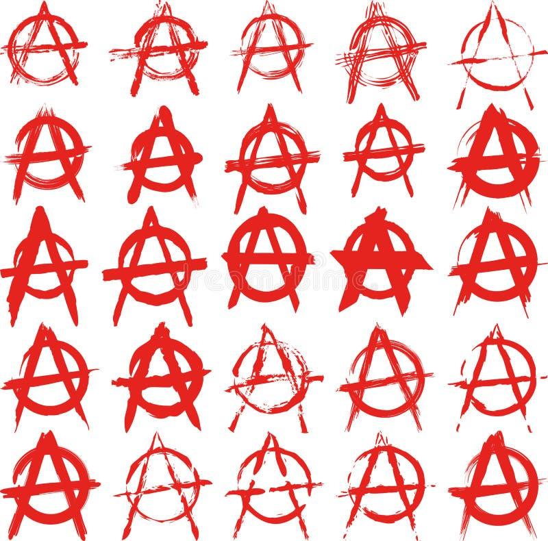 Zeichen-Anarchie Stockfotografie