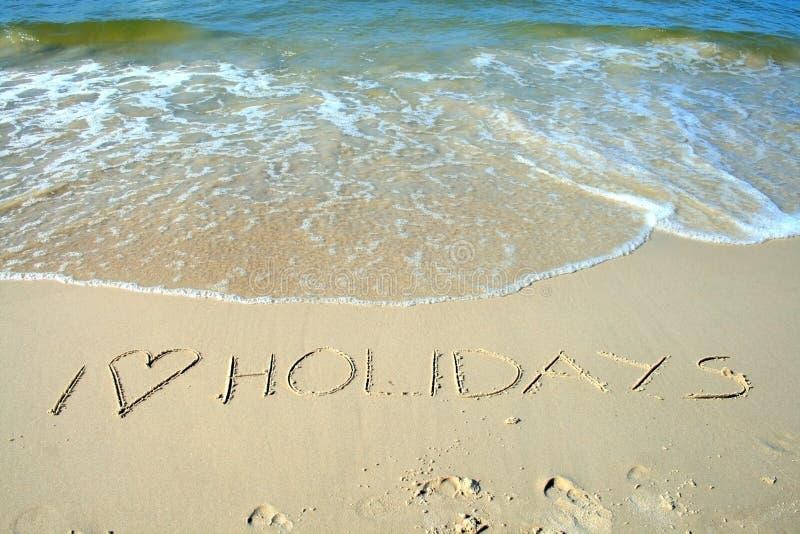 Zeichen auf dem Strand lizenzfreies stockfoto
