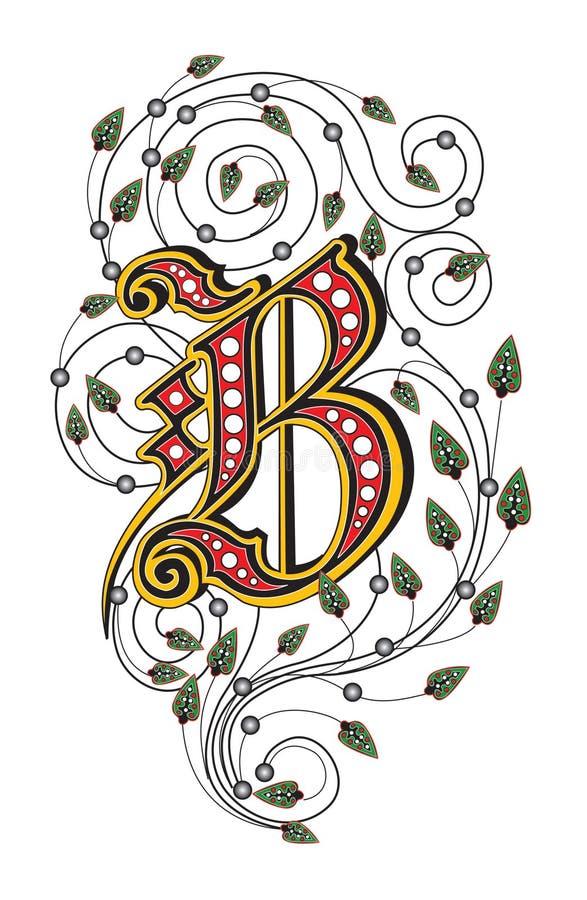 Zeichen B vektor abbildung