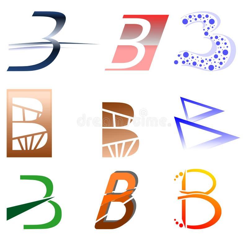 Zeichen B lizenzfreie abbildung