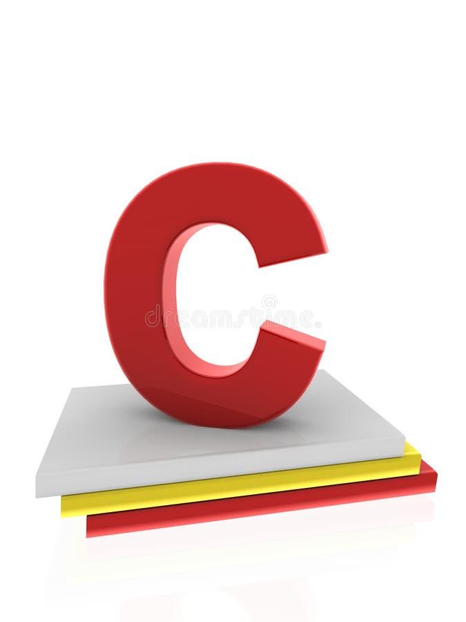 Zeichen C auf Büchern vektor abbildung