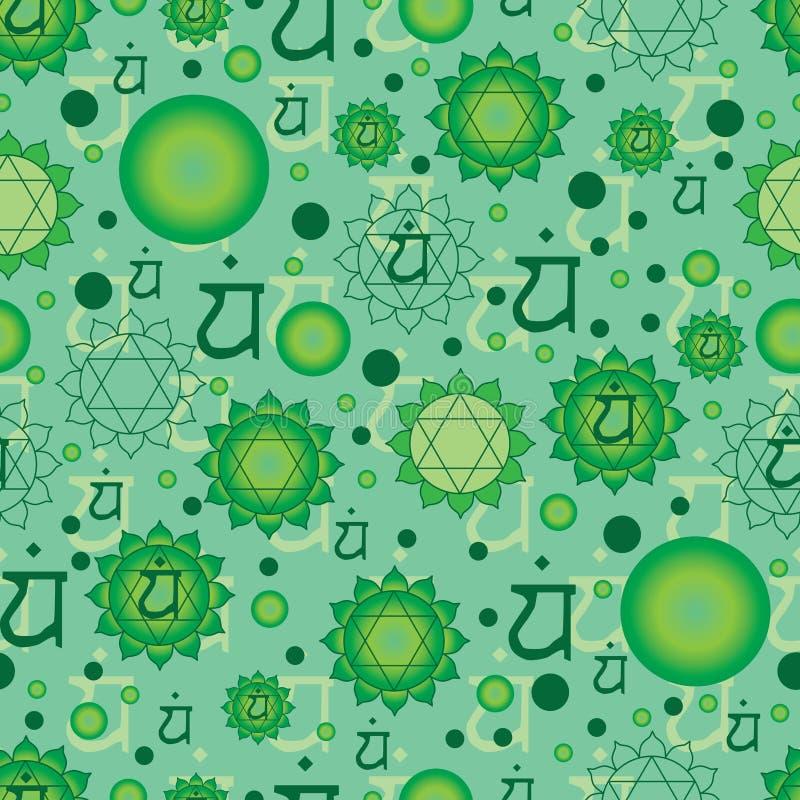 Zeichen Chakra 4 Anahata lizenzfreie abbildung
