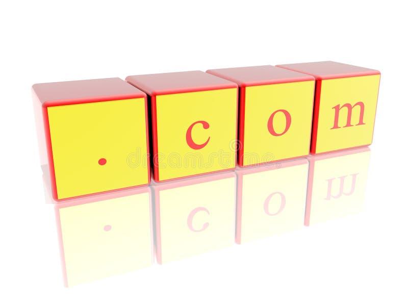 Zeichen .com lizenzfreie stockbilder