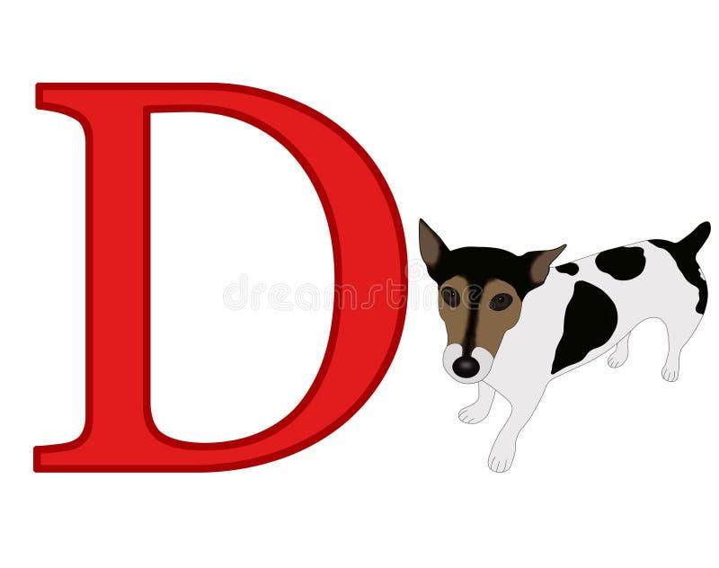Zeichen D lizenzfreie abbildung
