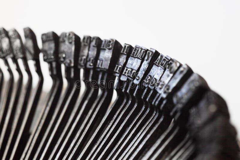 Zeichen der alten Schreibmaschine stockfoto