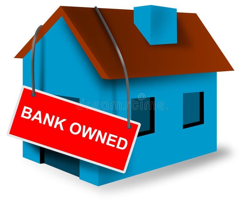 Zeichen der Haus- und Haushypothek stock abbildung
