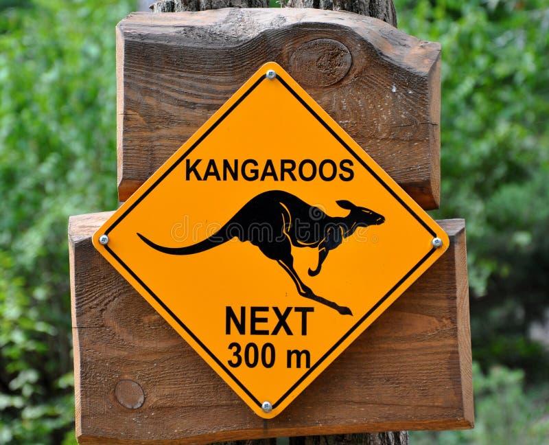 Zeichen der Kängurus lizenzfreie stockfotos