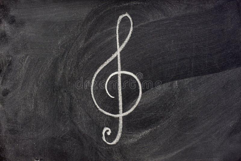 Zeichen der musikalischen Darstellung auf Tafel stockfoto