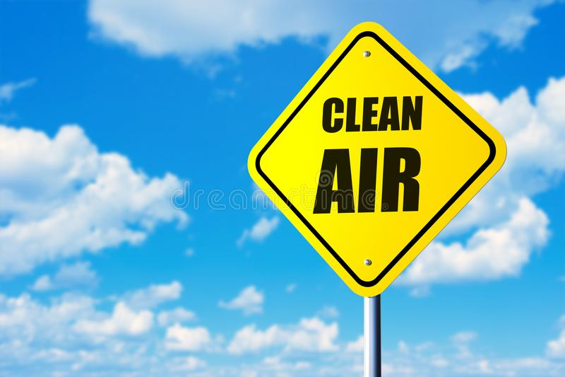 Zeichen der reinen Luft lizenzfreie stockbilder
