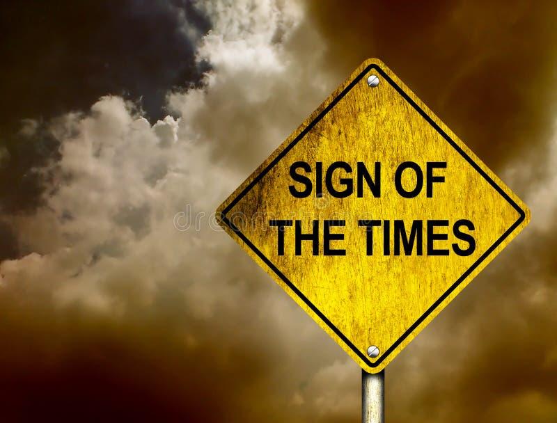 Zeichen der Zeiten stock abbildung