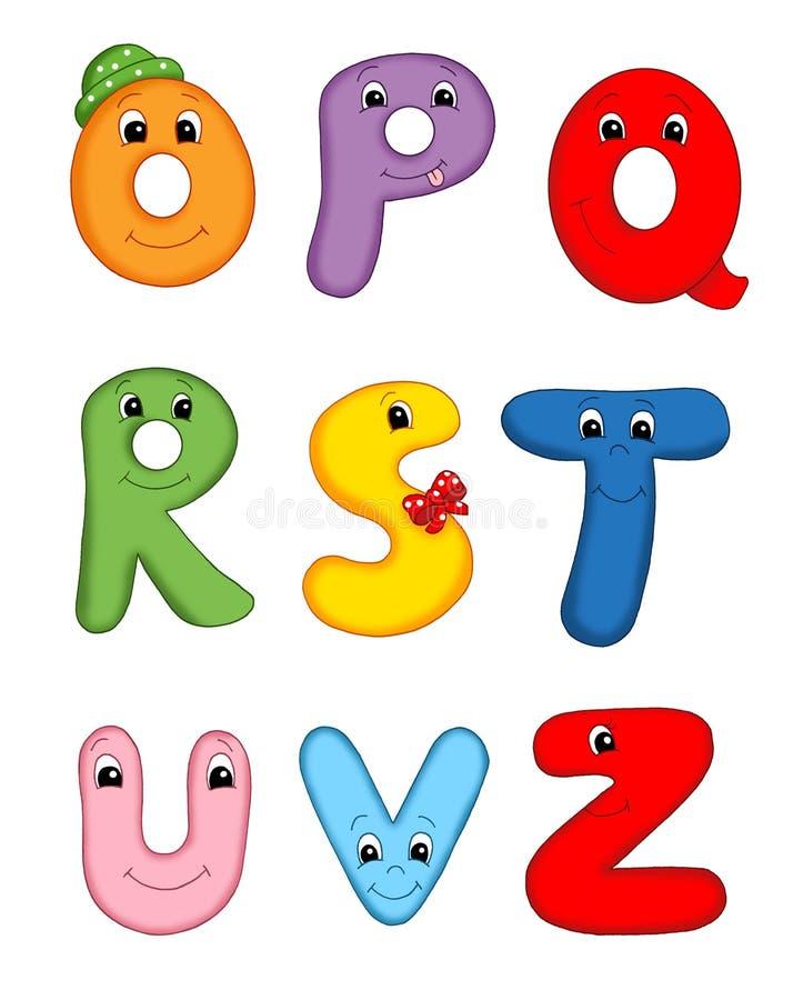 Zeichen des Alphabetes - 3 stock abbildung