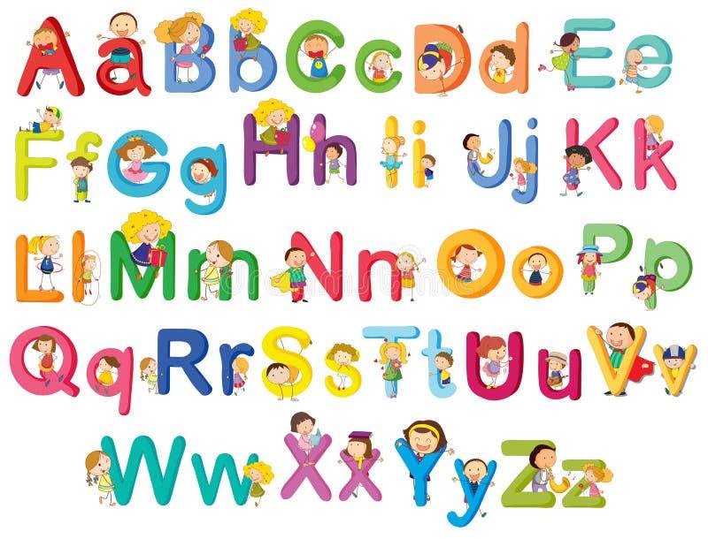 Zeichen des Alphabetes vektor abbildung