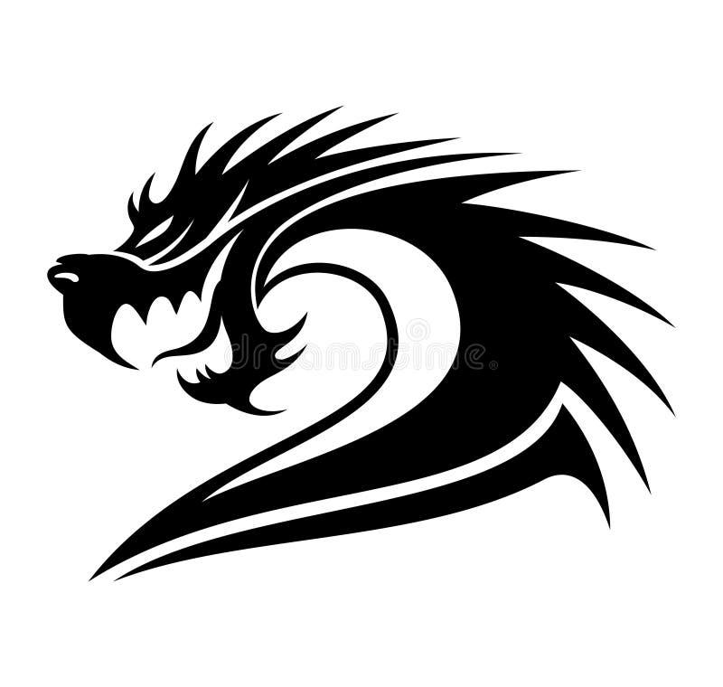 Zeichen des Drachen stock abbildung