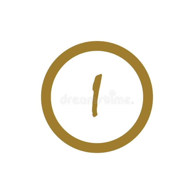Zeichen des Zeichen-I Alphabetfirmenzeichen-Vektordesign stock abbildung