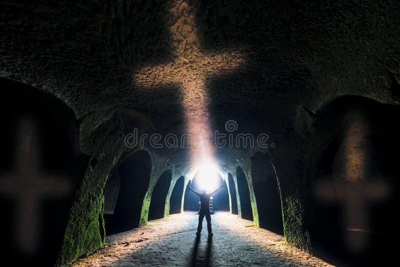 Zeichen des Kreuzes und des Christentums lizenzfreie stockfotografie