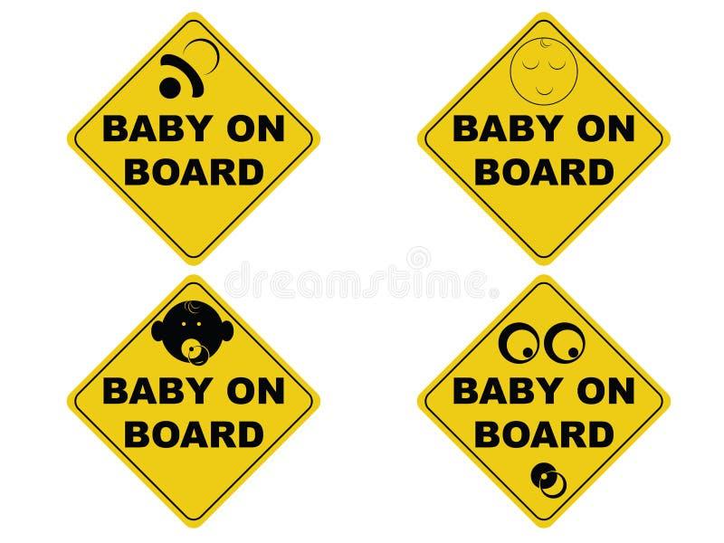 Zeichen des Schätzchens an Bord stock abbildung