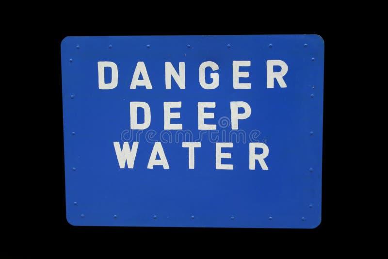 Zeichen des tiefen Wassers lizenzfreie stockfotos