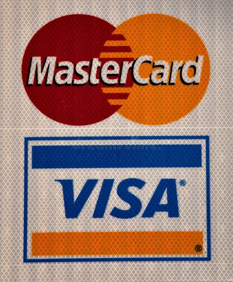 Zeichen des Visum und der Hauptkarte stockfotografie