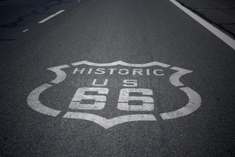 Zeichen des Weg-66 lizenzfreie stockfotos