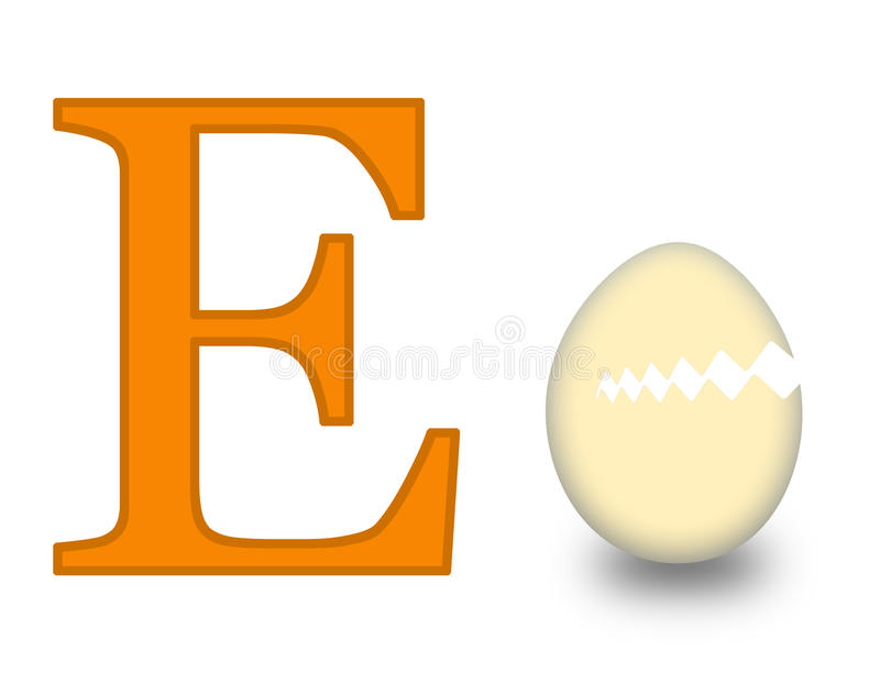 Zeichen E stock abbildung
