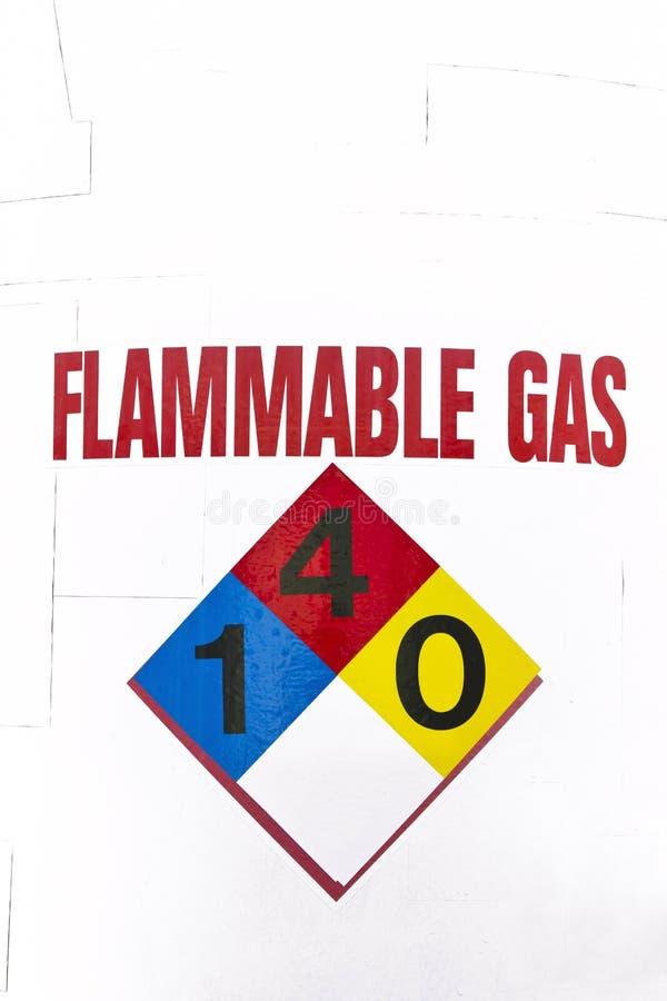 Zeichen für feuergefährliches Gas stockbild