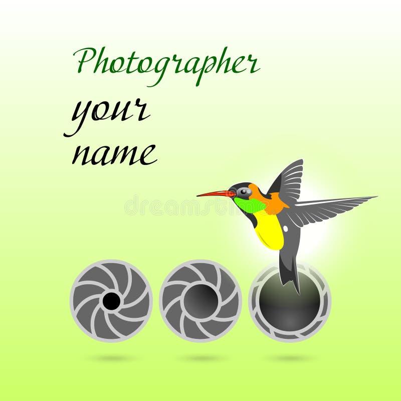 Zeichen für Fotografen stock abbildung