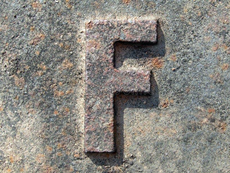 Zeichen F von? lizenzfreie stockfotografie
