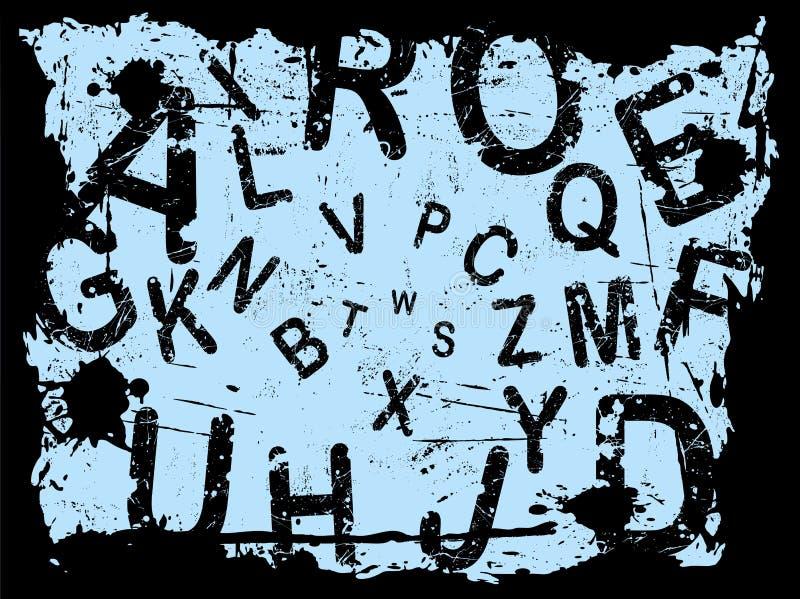 Zeichen Grunge Hintergrund 4 stock abbildung