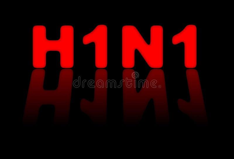 Zeichen H1N1 stock abbildung