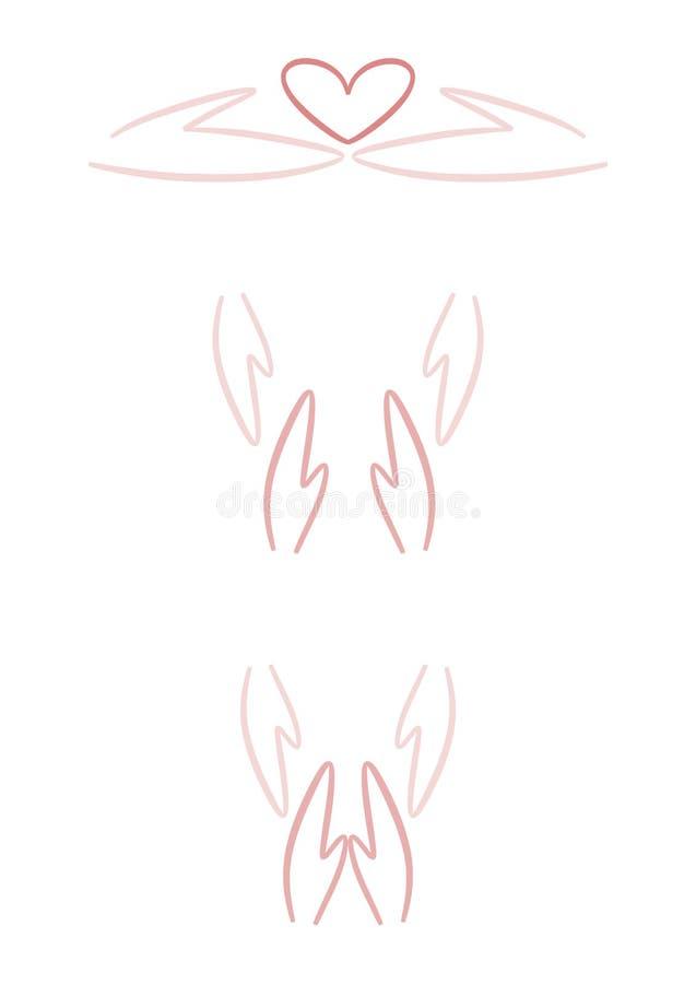 Zeichen: Helfende Hände vektor abbildung