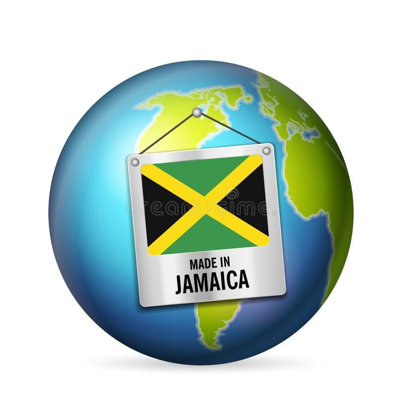 Zeichen hergestellt in Jamaika lizenzfreie abbildung
