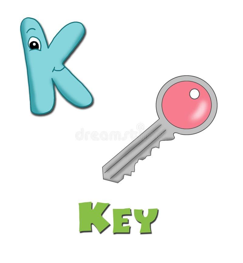 Zeichen K stock abbildung