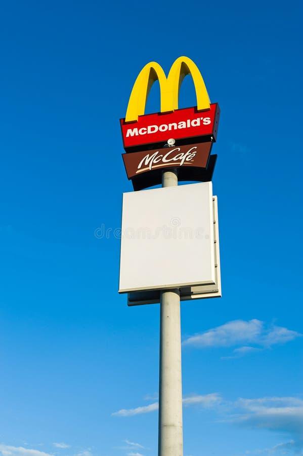 Zeichen Mc-Donald stockfoto