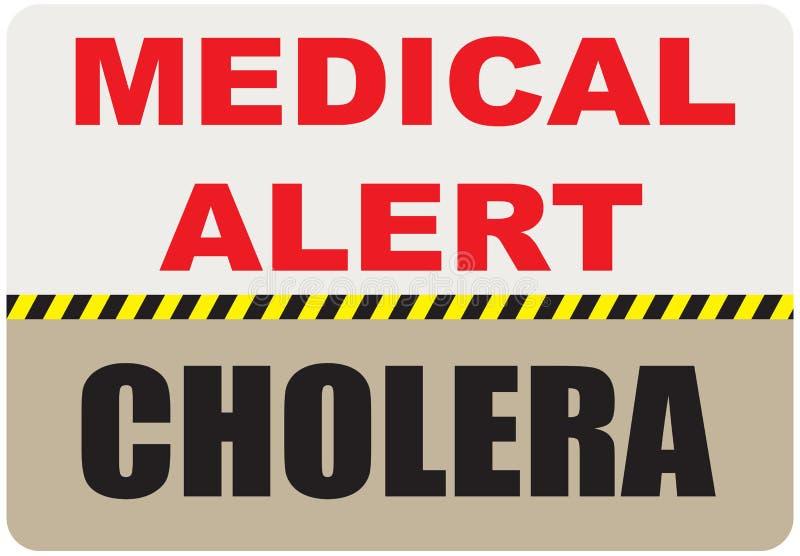 Zeichen-medizinischer Alarm - Cholera lizenzfreie abbildung