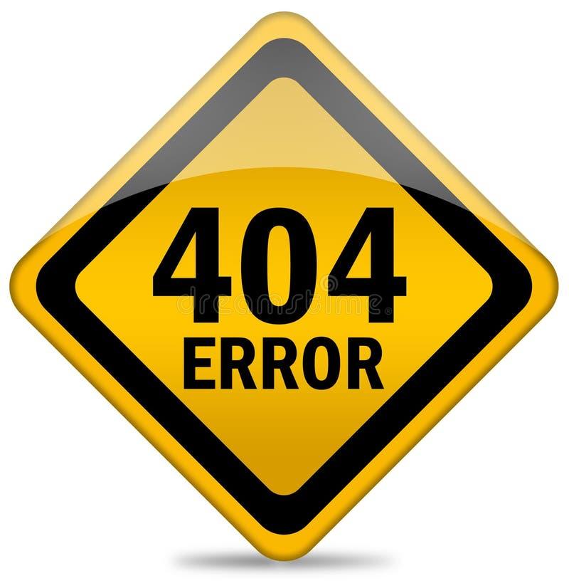 Zeichen mit 404 Fehlern vektor abbildung