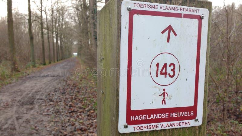 Zeichen mit Weg stockfotografie
