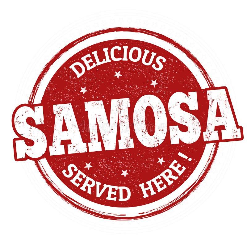 Zeichen oder Stempel Samosa vektor abbildung