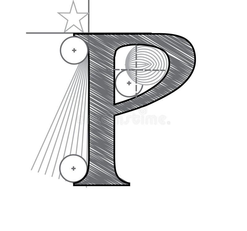Zeichen P lizenzfreie abbildung