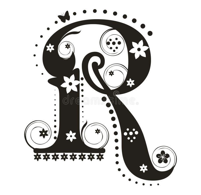 Zeichen R stock abbildung