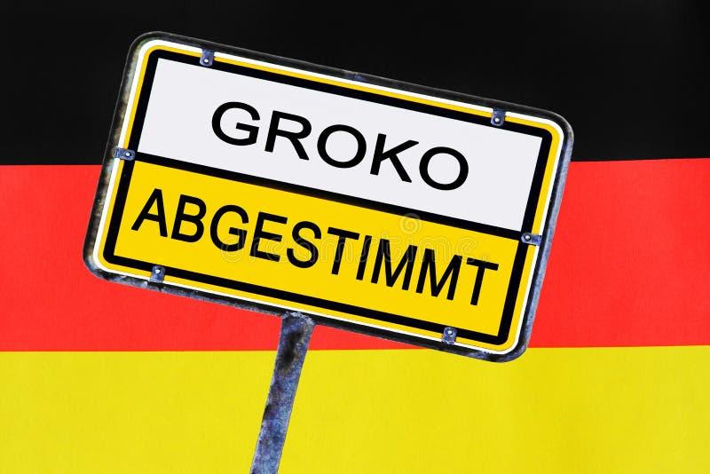Zeichen - Regierung von Deutschland hat für die Große Koalition gewählt lizenzfreie stockbilder