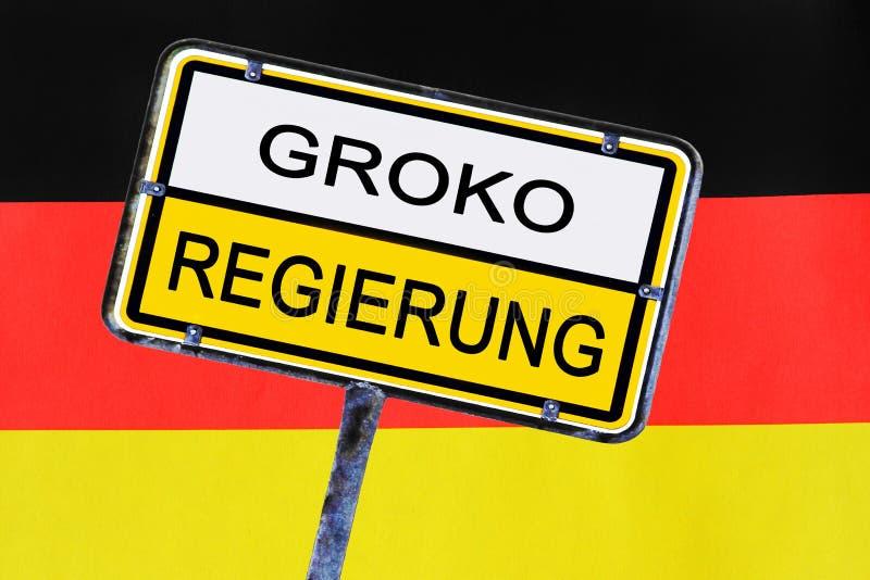 Zeichen - Regierung von Deutschland hat für die Große Koalition gewählt stockbild